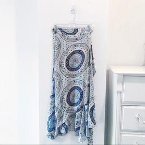Calypso Silk Wrap Skirt